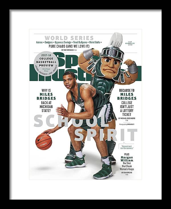 Michigan State University Framed Print featuring the photograph School Spirit 2017-18 College Basketball Preview Issue Sports Illustrated Cover by Sports Illustrated