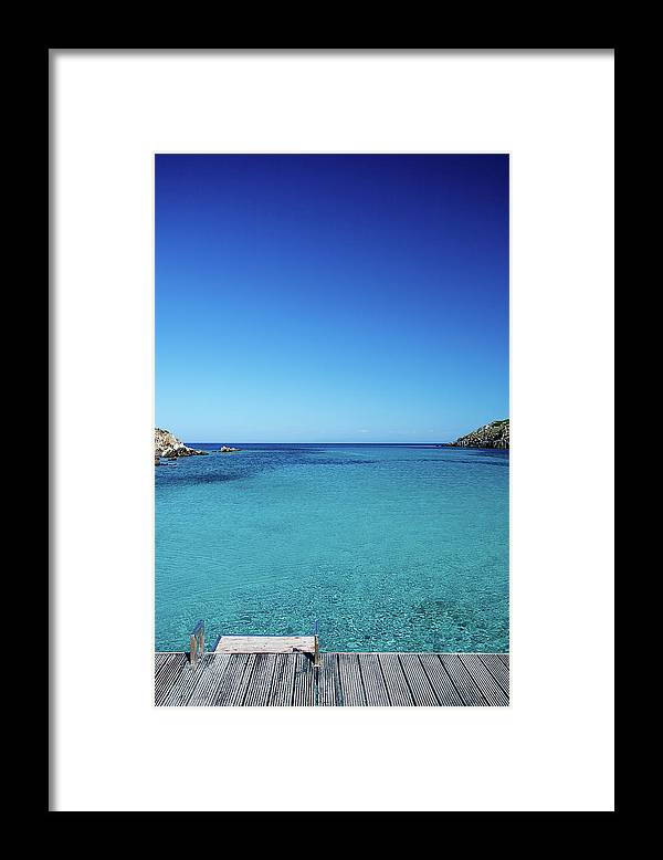 Scenics Framed Print featuring the photograph Sea by Cactusoup