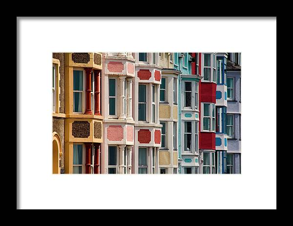 Row House Framed Print featuring the photograph Seafront Houses, Aberdovey, Wales by David Tait