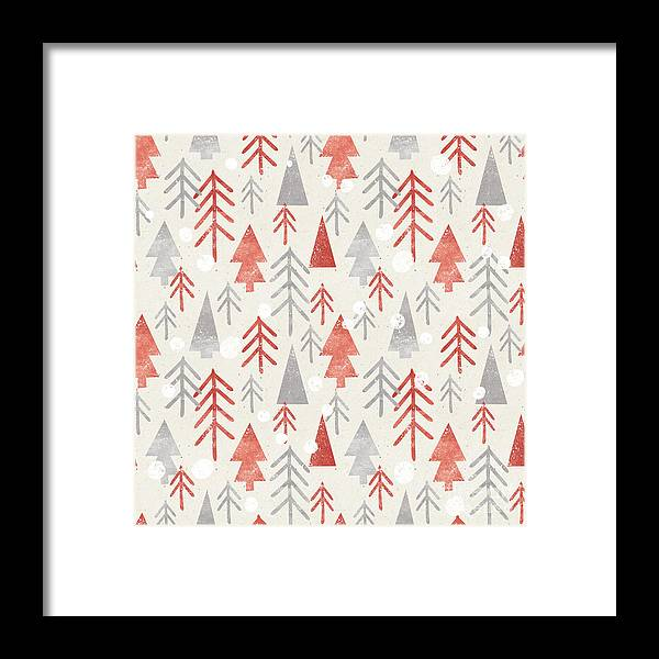Cut Framed Print featuring the digital art Seamless Christmas Pattern On Paper by Irtsya