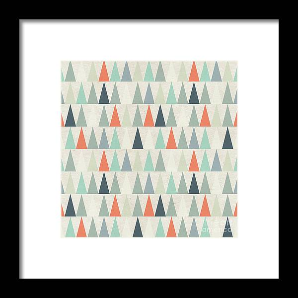 Paper Texture Framed Print featuring the digital art Seamless Geometric Pattern On Paper by Irtsya