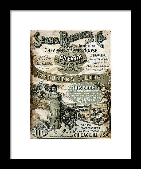 Sears Roebuck And Company Framed Print featuring the photograph Sears, Roebuck And Co. Catalog No.110 by Bettmann