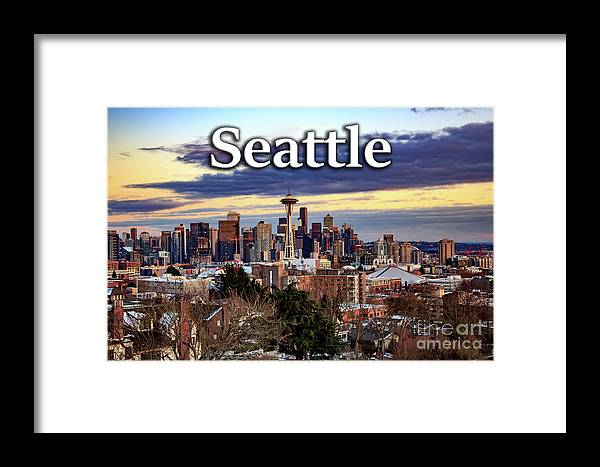 Seattle Framed Print featuring the photograph Seattle From Kerry Park by G Matthew Laughton