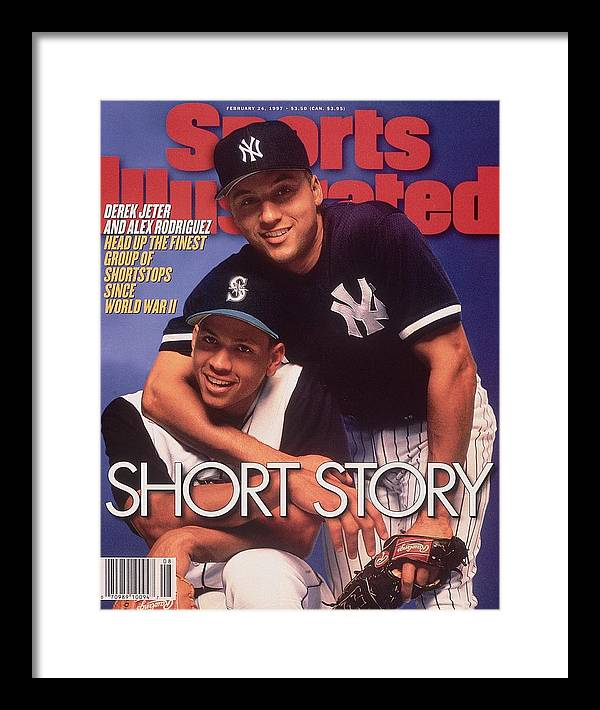 Magazine Cover Framed Print featuring the photograph Seattle Mariners Alex Rodriguez And New York Yankees Derek Sports Illustrated Cover by Sports Illustrated