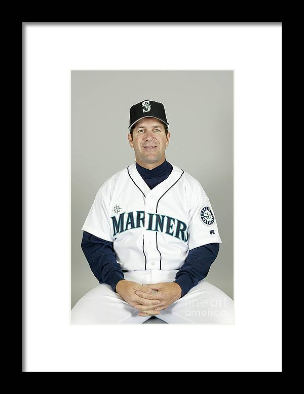 American League Baseball Framed Print featuring the photograph Seattle Mariners Headshots by Major League Baseball Photos