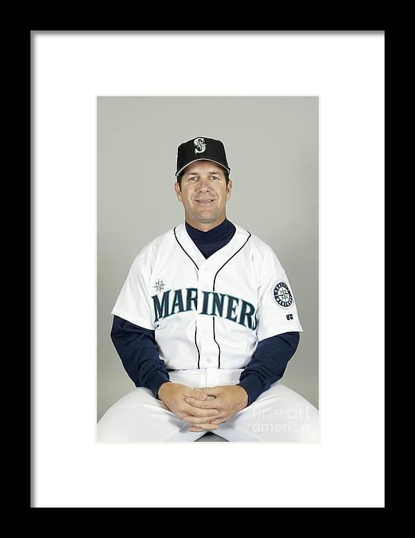 American League Baseball Framed Print featuring the photograph Seattle Mariners Headshots by Major League Baseball Photos