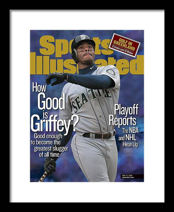 Magazine Cover Framed Print featuring the photograph Seattle Mariners Ken Griffey Jr... Sports Illustrated Cover by Sports Illustrated