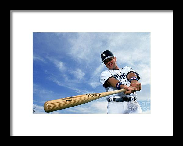 American League Baseball Framed Print featuring the photograph Seattle Mariners by Michael Zagaris