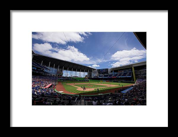 Florida Framed Print featuring the photograph Seattle Mariners V Miami Marlins by Rob Foldy