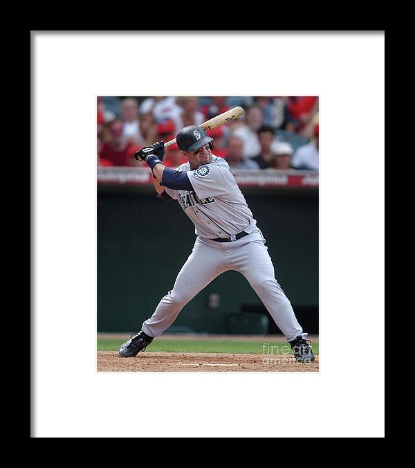 California Framed Print featuring the photograph Seattle Mariners Vs. Anaheim by Kirby Lee