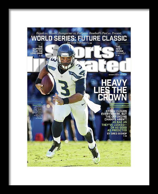 Magazine Cover Framed Print featuring the photograph Seattle Seahawks Heavy Lies The Crown Sports Illustrated Cover by Sports Illustrated