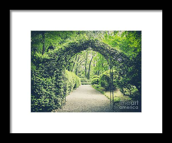 Magic Framed Print featuring the photograph Secret Garden In Vintage Style by Lukaszimilena
