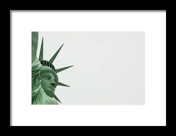 Security Framed Print featuring the photograph Security At The Statue Of Liberty Ferry by New York Daily News Archive