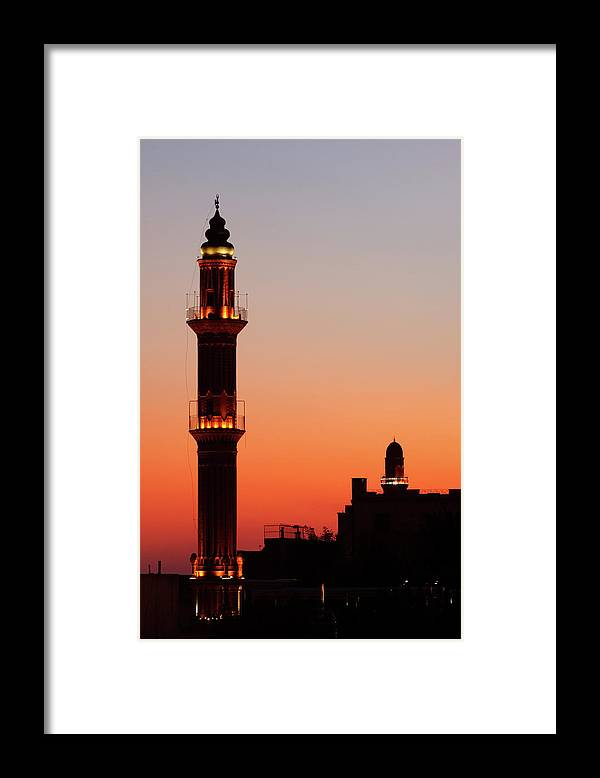 Built Structure Framed Print featuring the photograph Sehidiye Mosque Minaret by Wu Swee Ong