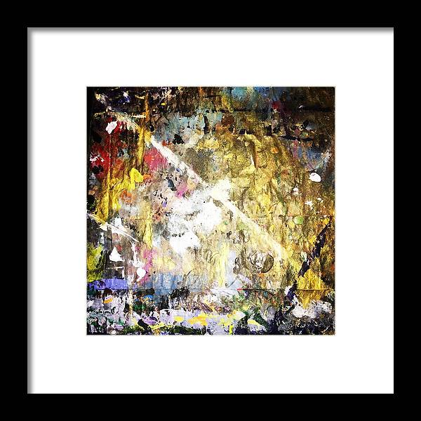 Self-transcendence Framed Print featuring the painting Self-Transcendence by Sonye Locksmith