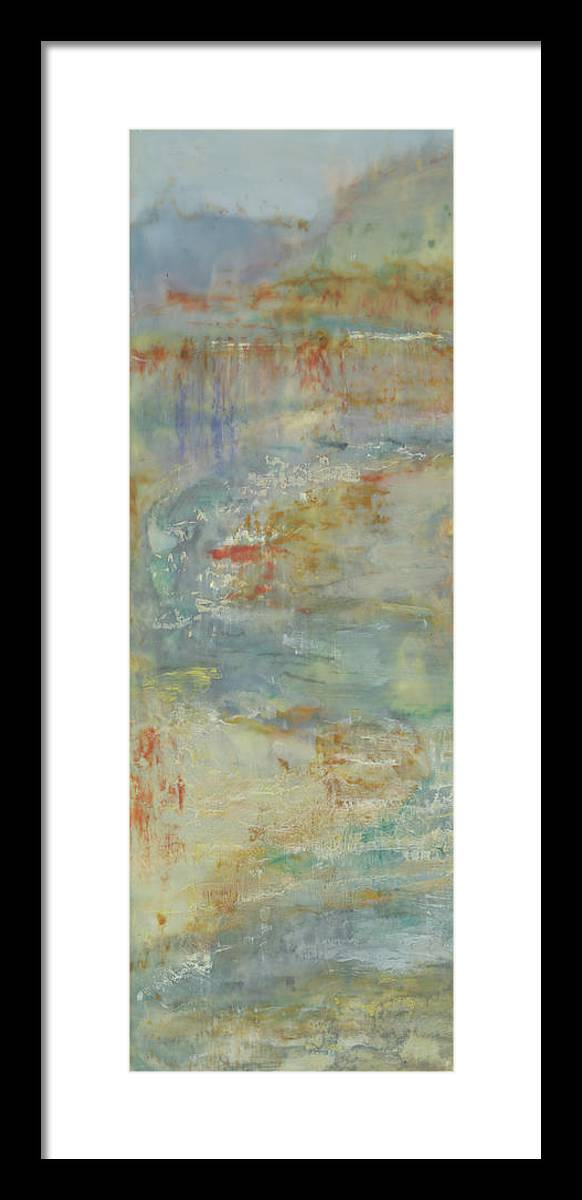 Vertical Framed Print featuring the painting Send Rain I by Shima Shanti