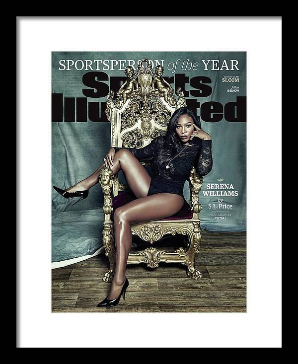 Magazine Cover Framed Print featuring the photograph Serena Williams, 2015 Sportsperson Of The Year Sports Illustrated Cover by Sports Illustrated