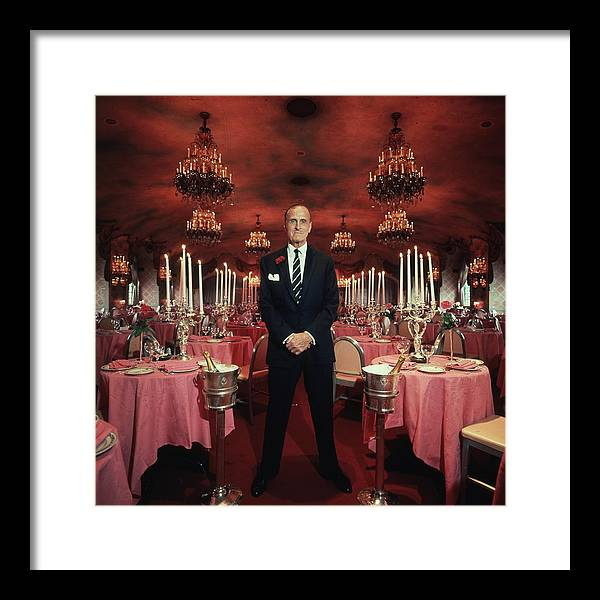 People Framed Print featuring the photograph Serge Obolensky by Slim Aarons