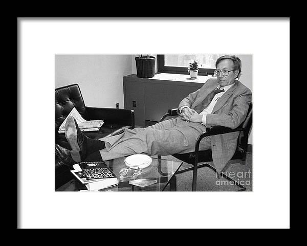 1980-1989 Framed Print featuring the photograph Seymour Hersh by Bettmann