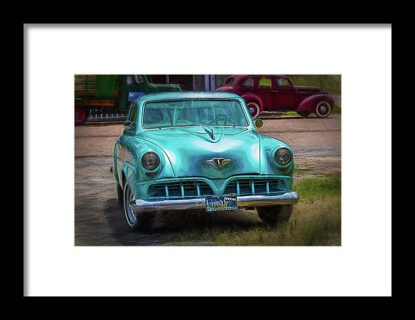 Studebaker Framed Print featuring the digital art Shades of Yesteryear by Barry Jones