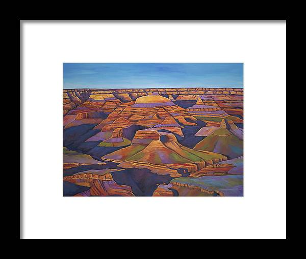 Grand Canyon Framed Print featuring the painting Shadows And Breezes by Johnathan Harris
