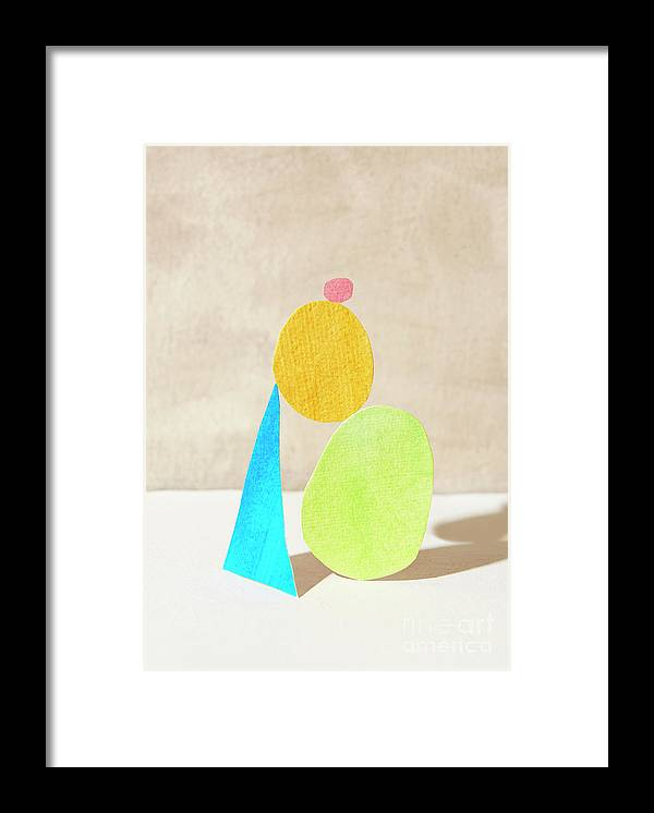 Art Framed Print featuring the photograph Shapes Balanced On Each Other by Tara Moore