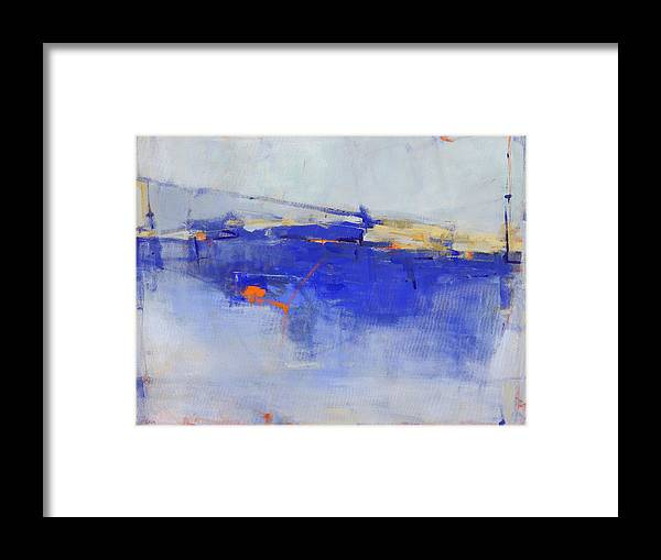 Abstract Framed Print featuring the painting She Will Walk on Water by Jacquie Gouveia