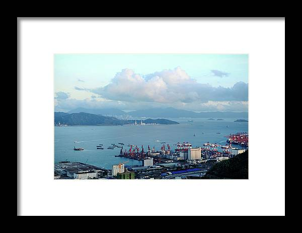 Tranquility Framed Print featuring the photograph Shenzhen Bay And Shekou Port by Wilson.lau