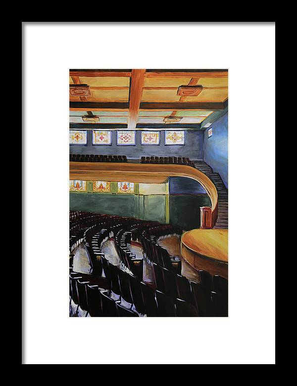 Drake Framed Print featuring the painting Sheslow Auditorium by Buffalo Bonker
