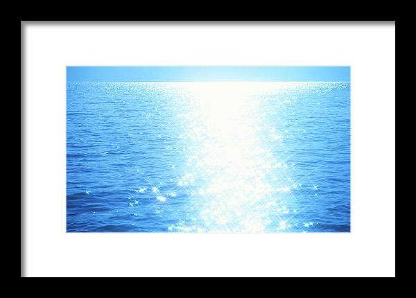 Sunlight Framed Print featuring the photograph Shining Water by Ooyoo