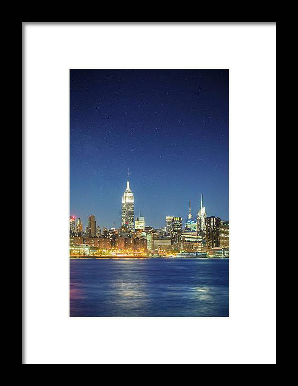 Scenics Framed Print featuring the photograph Shiny New York by Xavierarnau