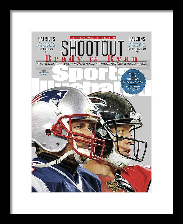 Playoffs Framed Print featuring the photograph Shootout Super Bowl Li Preview Sports Illustrated Cover by Sports Illustrated