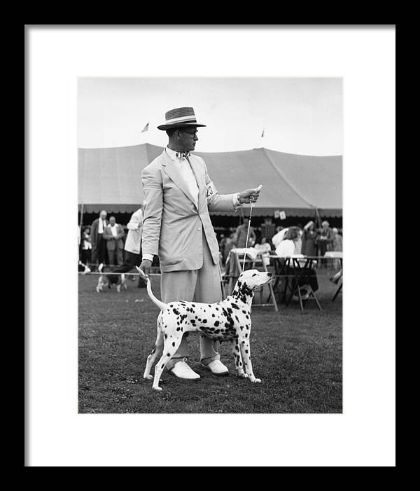 Pets Framed Print featuring the photograph Showing Off by Slim Aarons