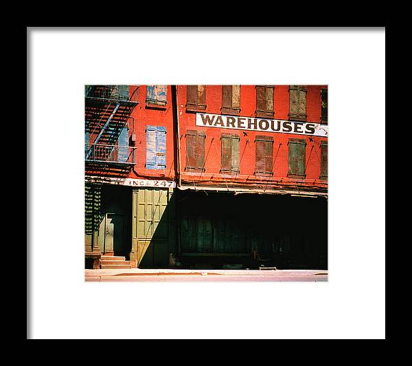 Timeincown Framed Print featuring the photograph Shuttered Warehouse On The Lower East by Walker Evans
