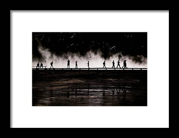 People Framed Print featuring the photograph Silhouettes by Kimberly Whitaker
