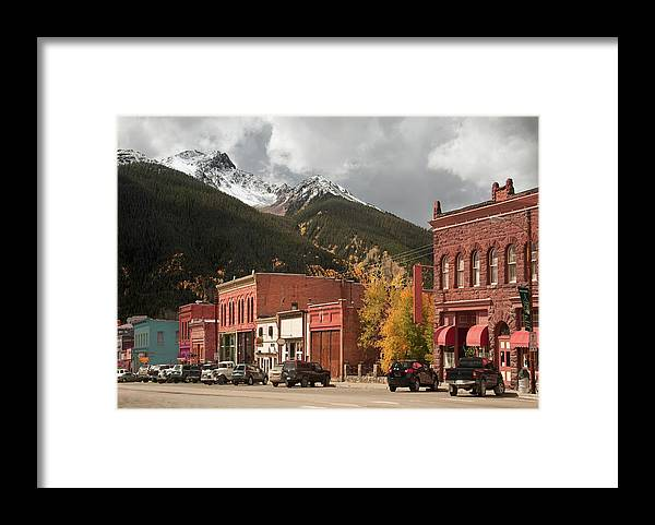 San Juan Mountains Framed Print featuring the photograph Silverton, Colorado by Missing35mm