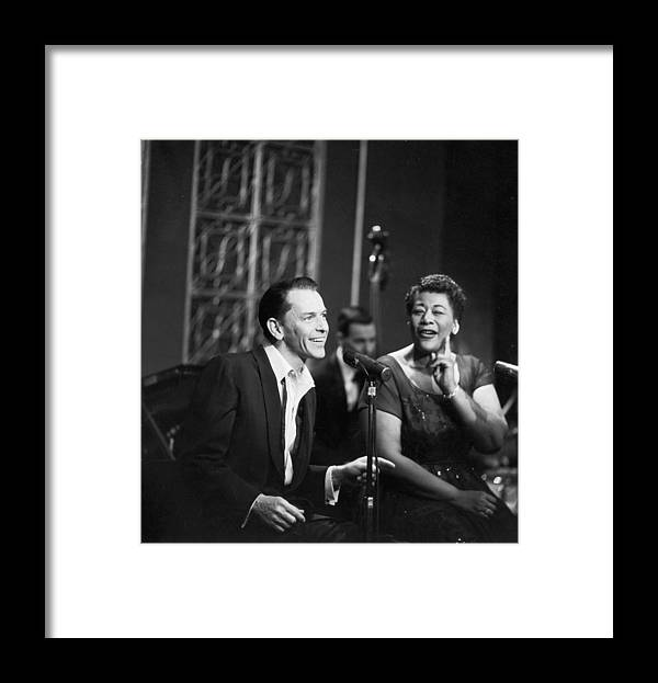 Singer Framed Print featuring the photograph Sinatra & Fitzgerald by Hulton Archive