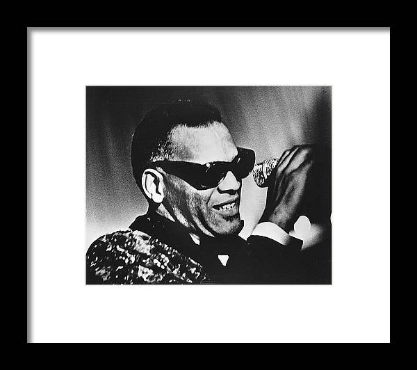 People Framed Print featuring the photograph Singer Ray Charles by Afro Newspaper/gado