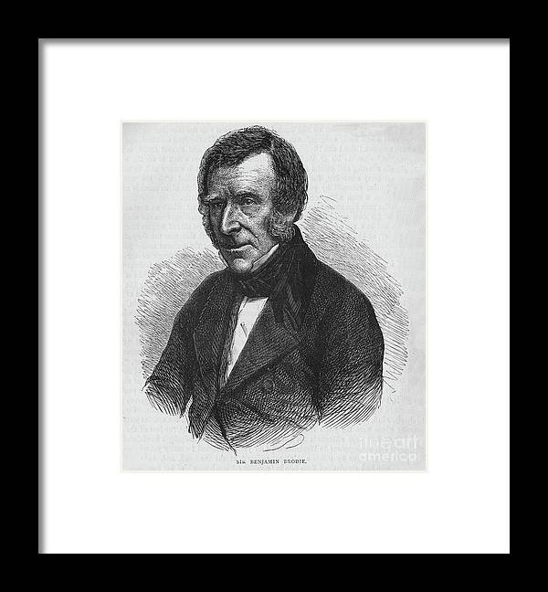 Engraving Framed Print featuring the drawing Sir Benjamin Brodie, English Doctor by Print Collector