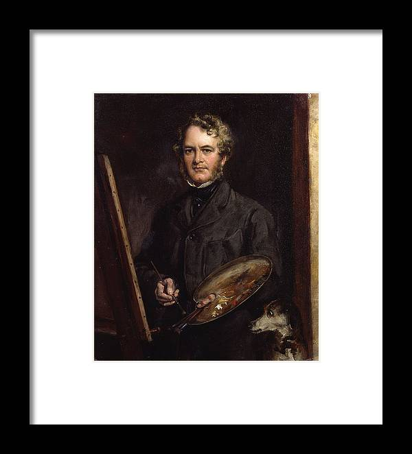 Sir Edwin Henry Landseer By Sir Francis Grant Framed Print featuring the painting Sir Edwin Henry Landseer by Francis Grant