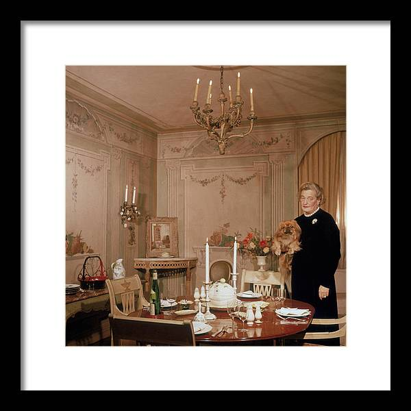 Pets Framed Print featuring the photograph Sister Parish by Slim Aarons