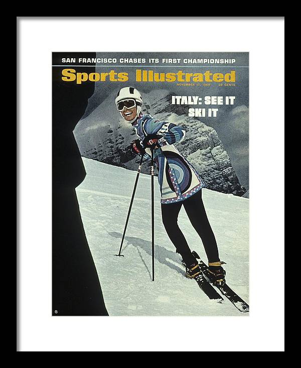 Magazine Cover Framed Print featuring the photograph Skiing In Italy Sports Illustrated Cover by Sports Illustrated