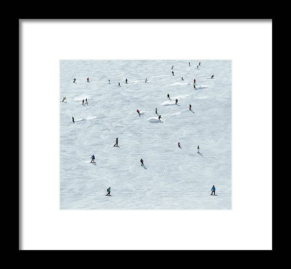 Skiing Framed Print featuring the photograph Skiing In Mayrhofen Austria by Mike Harrington