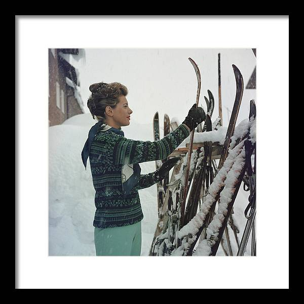 Skiing Framed Print featuring the photograph Skiing Princess by Slim Aarons