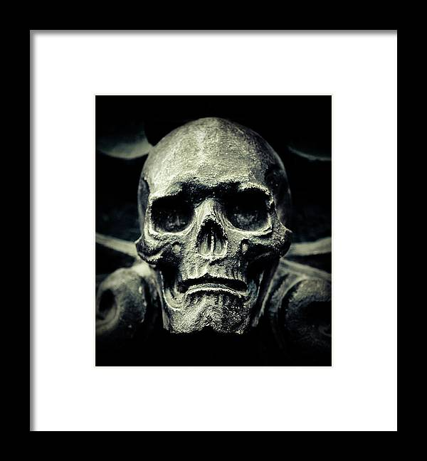 Gothic Style Framed Print featuring the photograph Skull by Thepalmer