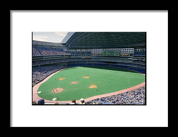 1980-1989 Framed Print featuring the photograph Skydome Blue Jays by Rick Stewart