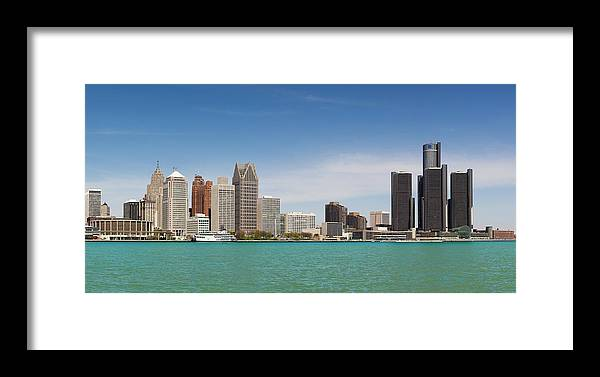 Walking Point Of View Framed Print featuring the photograph Skyline Of Detroit By Day by Pawel.gaul