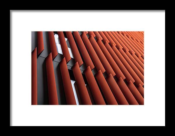 Abstract Framed Print featuring the photograph Slats by Gilbert Claes