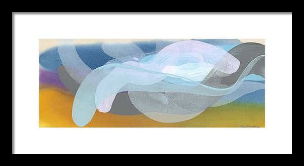 Abstract Framed Print featuring the painting Sleep In Past 8 by Claire Desjardins