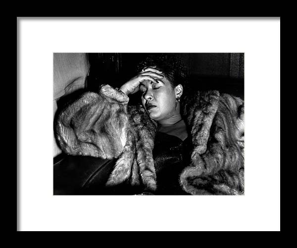 Billie Holiday Framed Print featuring the photograph Sleeping Billie by Charles Hewitt